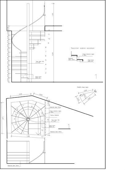 La reforma de la casa chorchis opensourcearchitecture - Dimensiones escalera de caracol ...