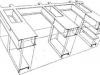 dibujo de sámsondi kiss que explica la constitución de una estructura de una vivienda