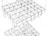 dibujo que explica el funcionamiento de un forjado de hormigón celular.